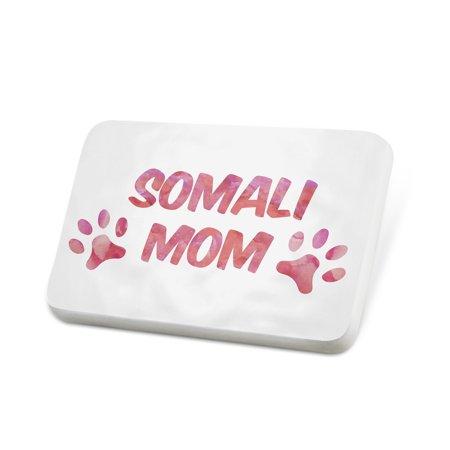 Porcelein Pin Dog & Cat Mom Somali Lapel Badge – NEONBLOND