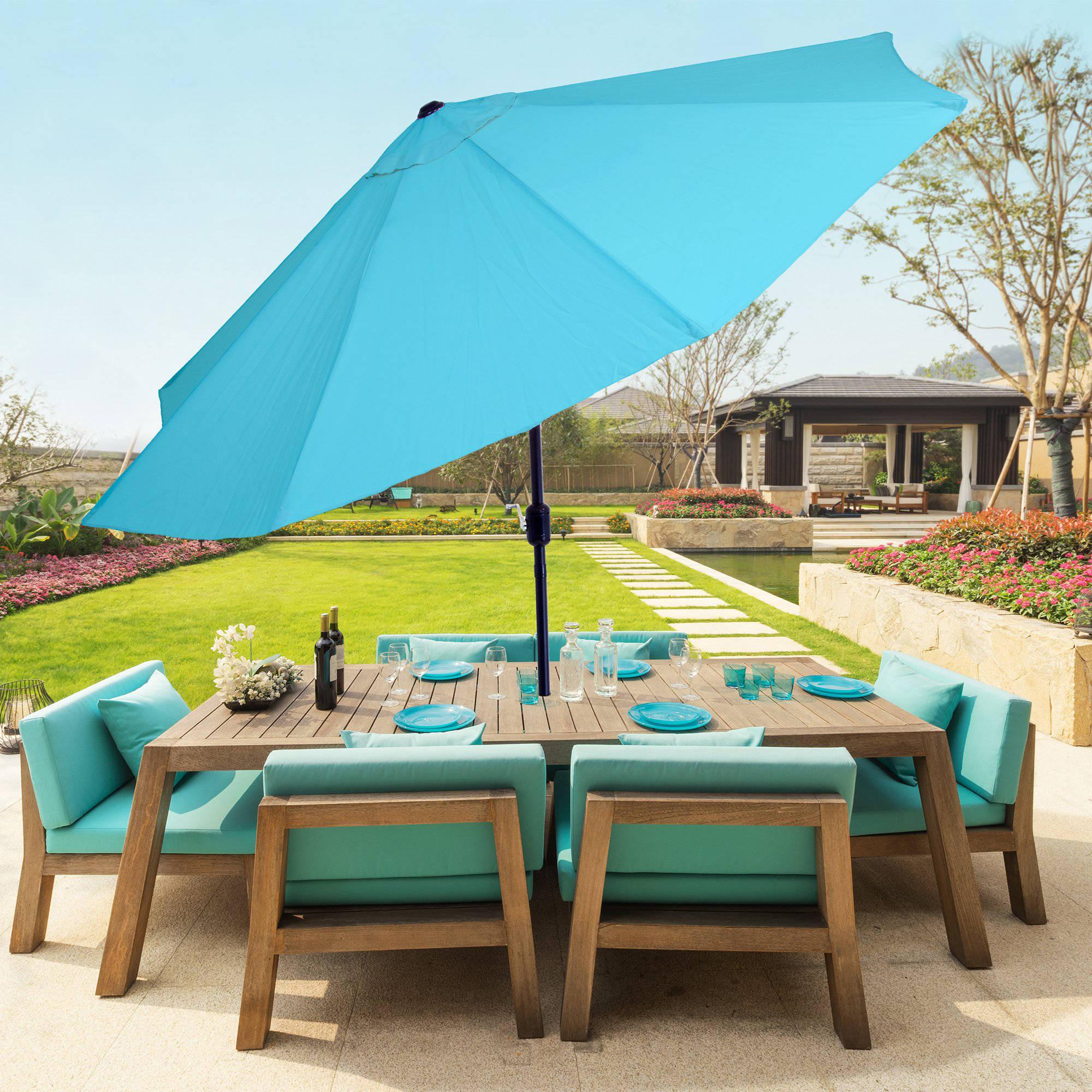 Pure Garden 10 Aluminum Patio Umbrella with Auto Tilt