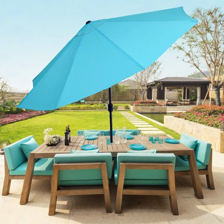 Pure Garden 10' Aluminum Patio Umbrella with Auto Tilt - Pure Garden 10' Aluminum Patio Umbrella With Auto Tilt - Walmart.com
