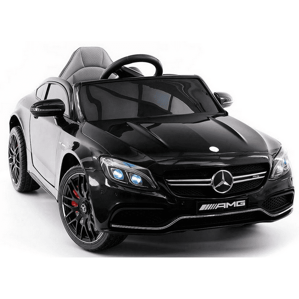 2020 Mercedes Benz Kids Ride On Car 12v Licensed Electric Cars Motorized Vehicles For Boys Remote Control Leather Seat Music Horn Walmart Com Walmart Com