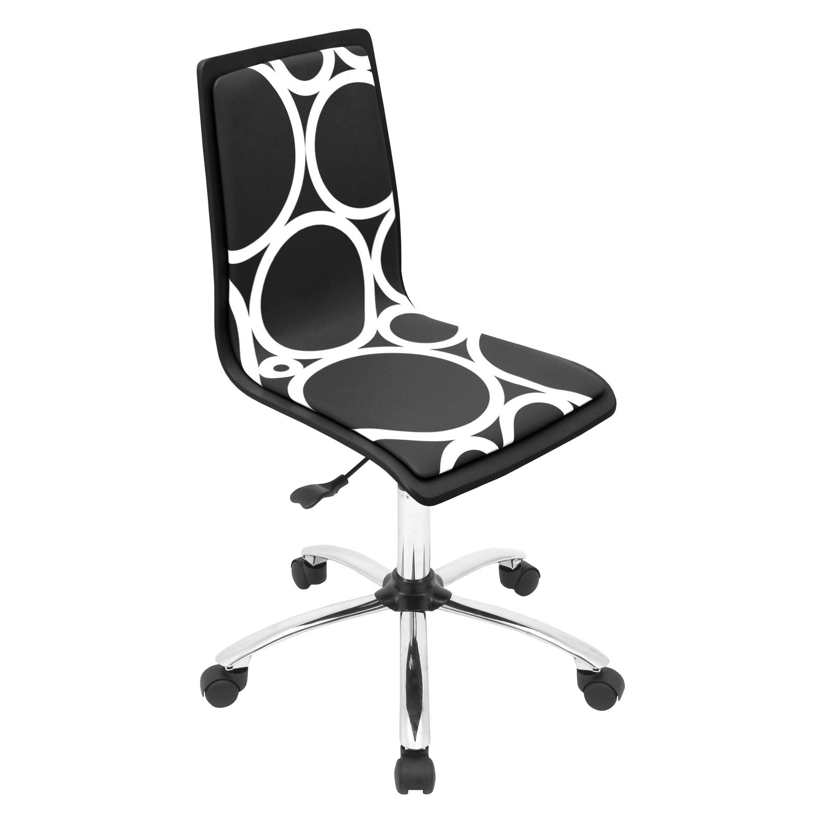 LumiSource Printed Circles Computer Chair - Black