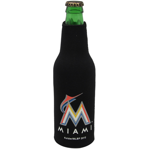 Miami Marlins Zippered 12oz. Bottle Cooler - Black - No Size