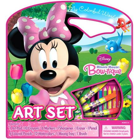 art supplies disney minnie mouse bowtique art set. Black Bedroom Furniture Sets. Home Design Ideas