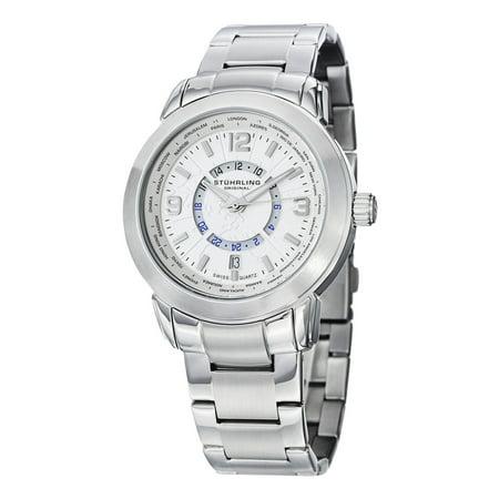 Stuhrling Original  Mens Swiss Quartz Renegade Stainless Steel Bracelet Watch
