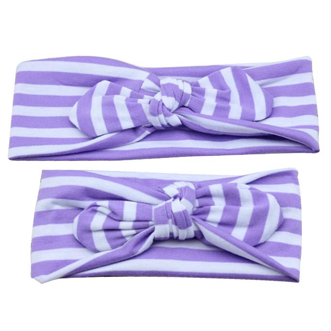 Outtop Adults And Baby Keep Warm Elastic Cloth Bowknot Headband