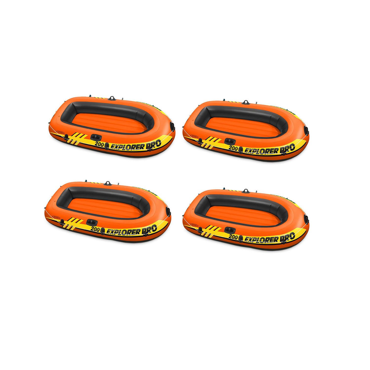 Intex Explorer Pro 200 Inflatable Youth Pool Boat Raft (Raft Only) (4 Pack) by Intex