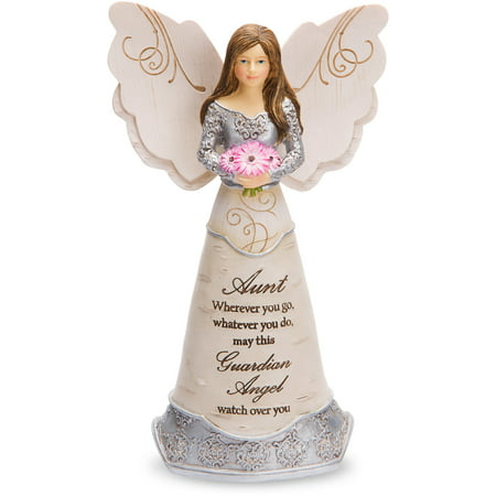 Pavilion Gift Company - Aunt Guardian Angel Figurine 6 - Collectible Porcelain Angel Figurine