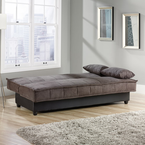 Sauder Bayshore Convertible Sofa Chocolate Best Futons