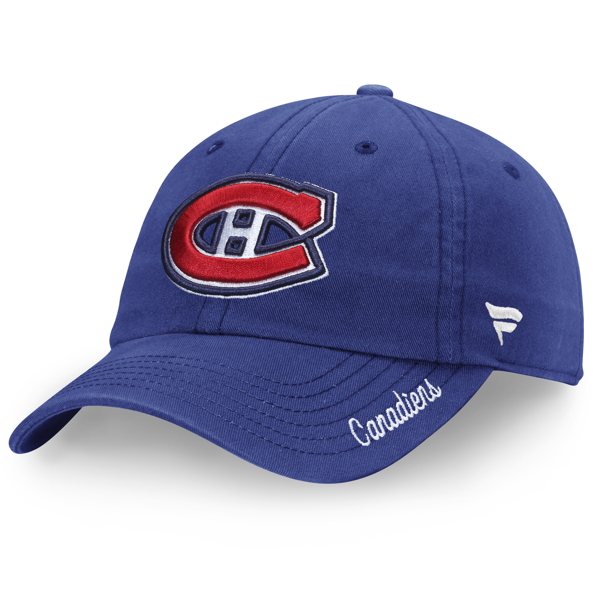 Montreal Canadiens Fanatics Branded Women's Fundamental Adjustable Hat - Royal - OSFA