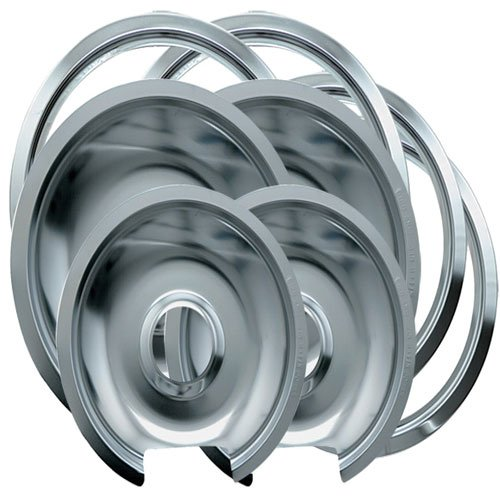 Range Kleen 1056RGE8 GE Hinged Drip Pans and Trim Rings C...