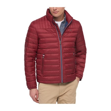 3233f365 Tommy Hilfiger Mens Solid Puffer Jacket red XLT - Big & Tall - image 1 ...