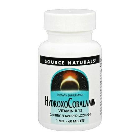 Source Naturals - HydroxoCobalamin Cherry Flavored 1 mg. - 60 Lozenges