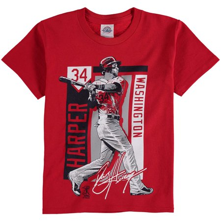 Bryce Harper Washington Nationals Youth Color Block Player Series Graphic T-Shirt - Red