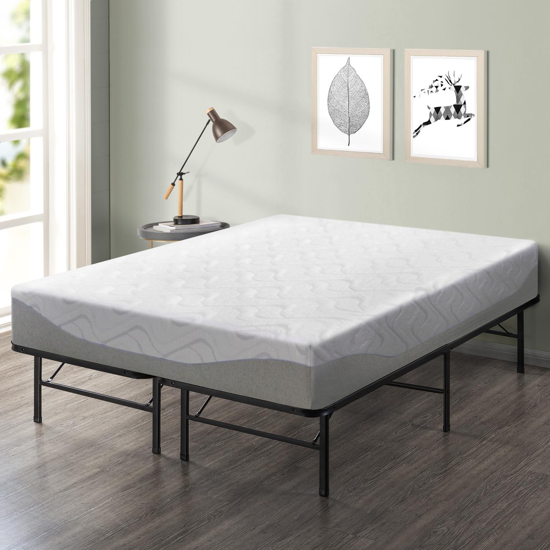 Best Price Mattress 11 Inch Gel-Infused Memory Foam Mattress and 14 Inch Steel Platform Bed Frame Set - Twin