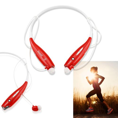 Wireless Stereo Bluetooth Sports Workout Gym Headset Neckband Earphone Earbuds Headphones for Cellphones iPhone Samsung Galaxy -Red