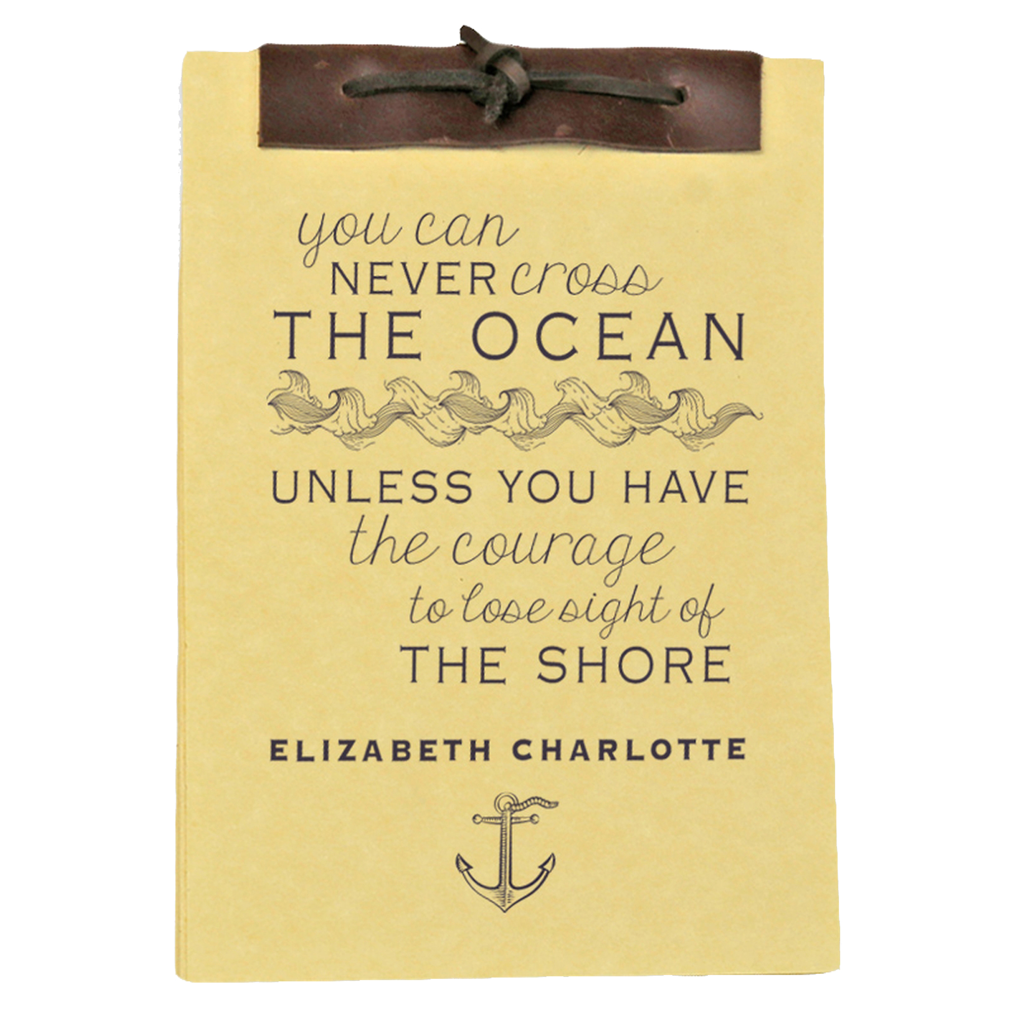 The Ocean Antique Style Personalized Notebook 8.5 x 5.5 inches