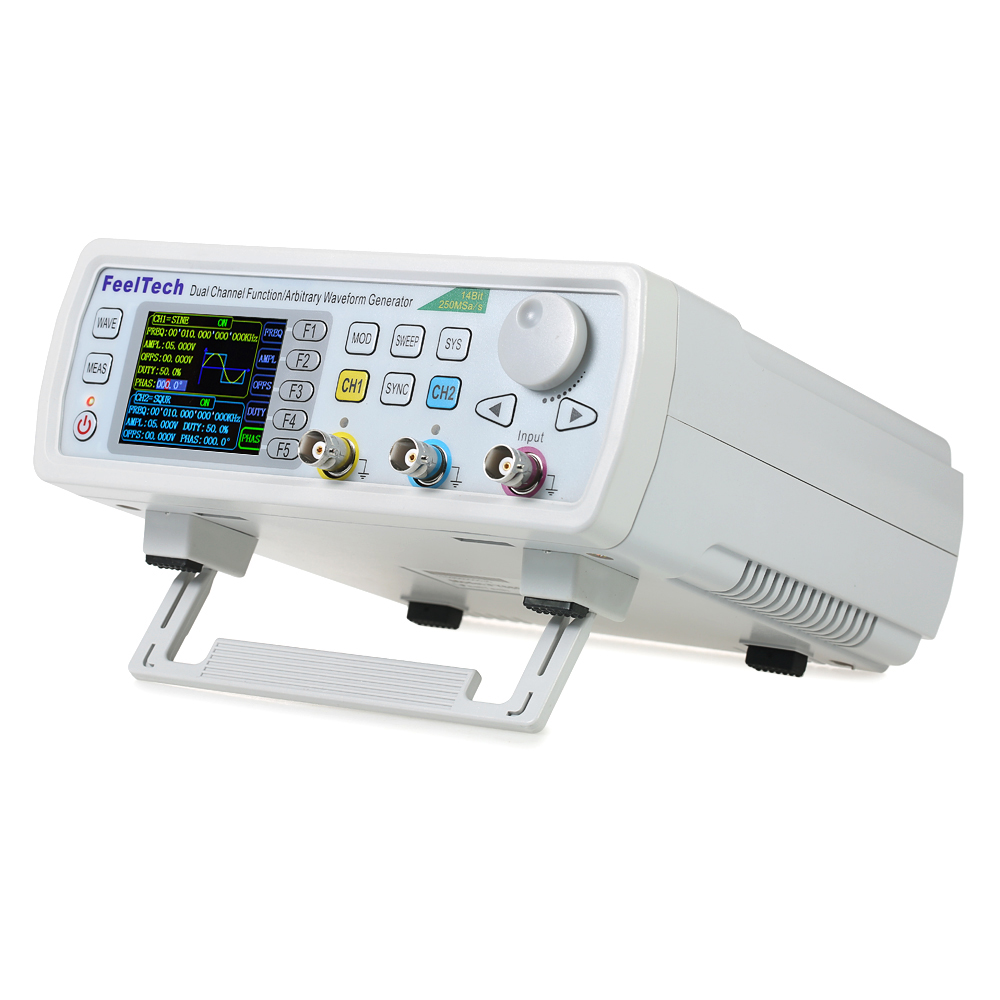 High Precision Digital DDS Dual-channel Function Signal/Arbitrary Generator 250MSa/s 8192*14bits Frequency Meter VCO Burst AM/PM/FM/ASK/FSK/PSK Modulation 60MHz
