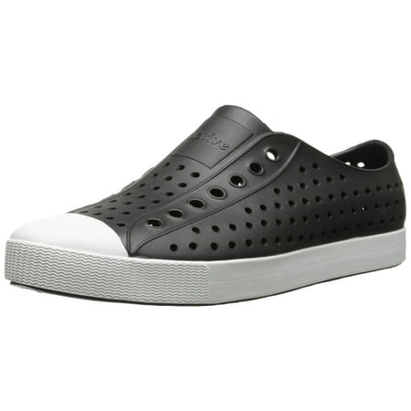 Native 11100100-1105: Native 11100100-1105: Jefferson Jiffy Black Shell  White Unisex Slip-Ons Jiffy Black Shell White Unisex Shoes (9 D(M) US Men /  11 B(M) ...