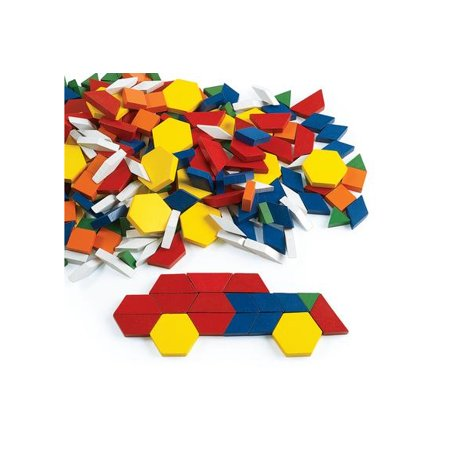 Excellerations Wood Pattern Blocks - 250 Pieces (Item # WDPAT)