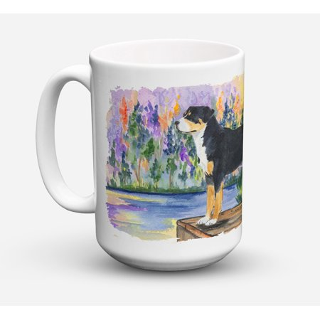 Greater Swiss Mountain Dog Dishwasher Safe Microwavable Ceramic Coffee Mug 15 ounce SS8160CM15