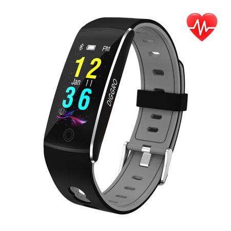 DIGGRO F10 Fitness Tracker HR, Activity Tracker Watch with Heart Rate Monitor, Waterproof Resistant Smart Bracelet with Calorie Counter Pedometer Watch for Android and