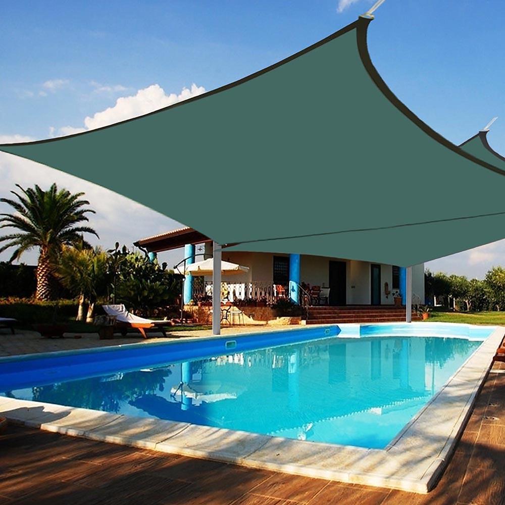Yescom 2pcs 18x18\' Square Sun Shade Sail Pool UV Blocking Canopy Cover