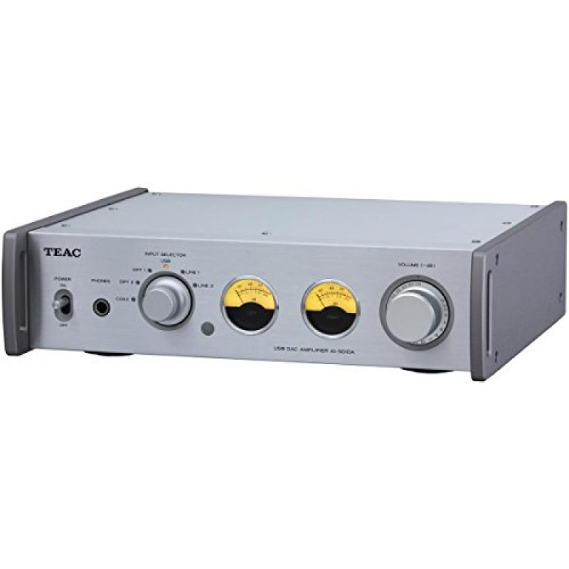 Teac AI-501DA-S Integrated Amplifier with 192kHz USB Audio Input (Silver) by TEAC