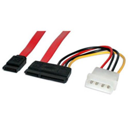 18 inch Serial ATA Data Cable with LP4 Adapter