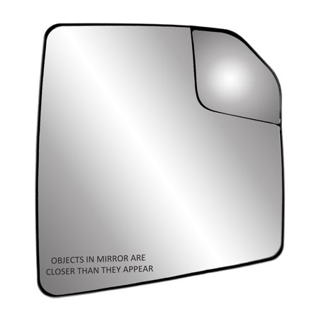 30310 - Fit System Passenger Side Heated Mirror Glass w/ backing plate, Ford F150 15-18, adjustable spot mirror, w/o tow pkg, w/o auto dimming, w/o BSDS, 7 15/16