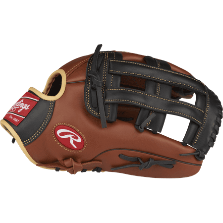 "Rawlings Sandlot Series 12.75"" Modified Pro H Web Outfield Baseball Glove, Right Hand Throw"