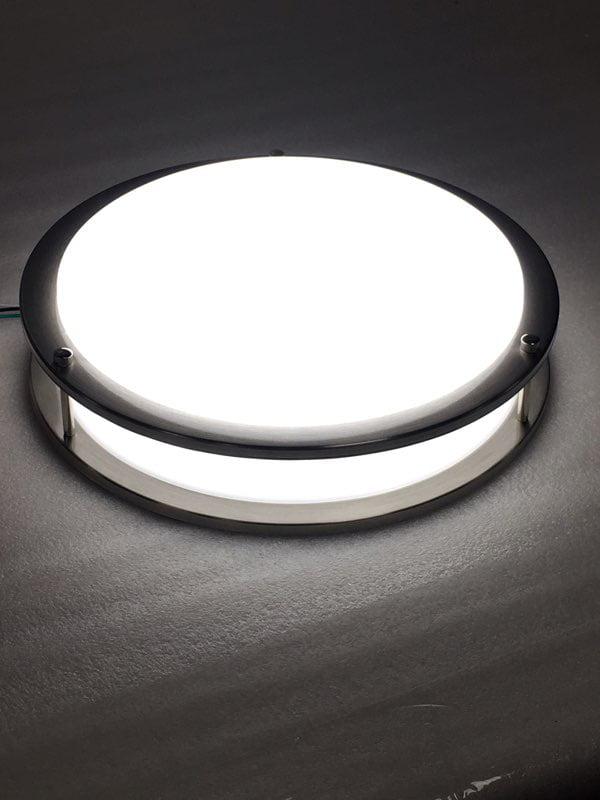 Cool White LED Flush Mount Fixture Ceiling Light, Brushed ...