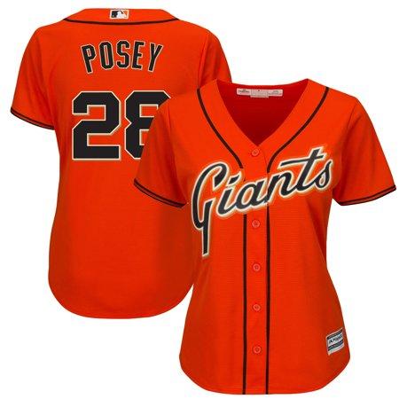 - Buster Posey San Francisco Giants Majestic Women's Cool Base Player Jersey - Orange