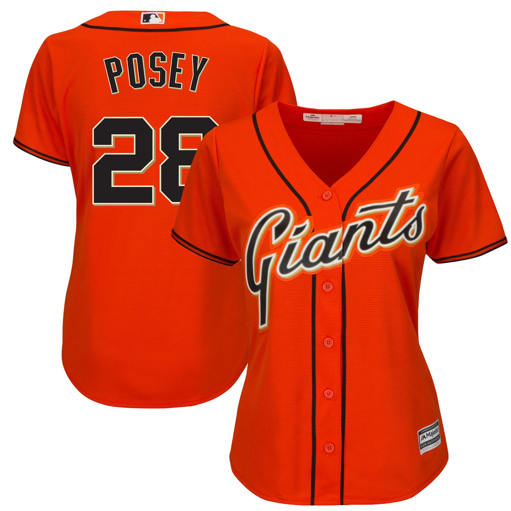 Buster Posey San Francisco Giants Majestic Women's Cool Base Player Jersey - Orange