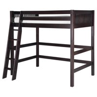 Camaflexi Twin Size High Loft Bed - Mission Headboard - Cappuccino Finish