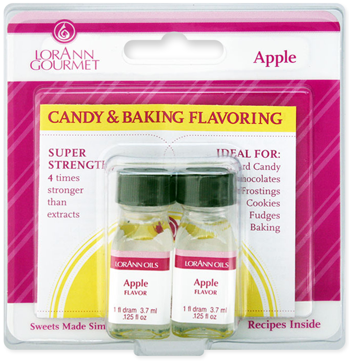 Candy & Baking Flavoring .125oz 2/Pkg-Apple