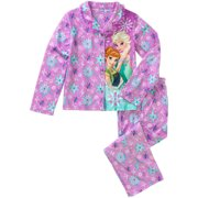 Fever Girls' License Button Front Pajama 2 Piece Sleep Set
