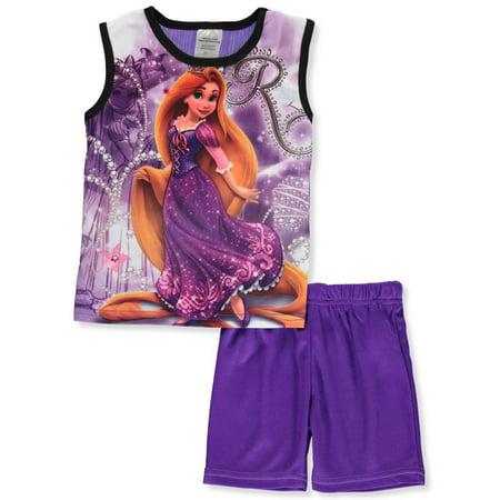 Disney Rapunzel Girls' 2-Piece Shorts Set Outfit - Kids Disney Outfits