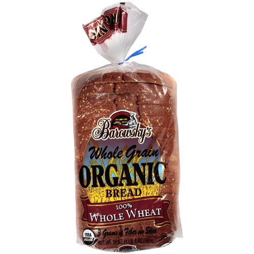 Barowsky's Whole Grain Organic Whole Wheat Bread, 24 oz