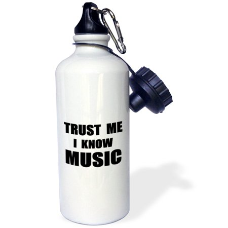 3dRose Trust me I know Music - fun musician and musical fan humor - funny, Sports Water Bottle, 21oz](Fun Water Bottles)