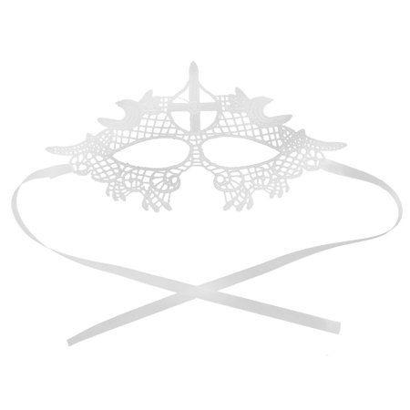 Women Sexy Masquerade Costume Fancy Party Bar Dress Eyemask Lace Eye Mask White - Catwoman Mask Party City