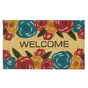 Welcome Doormat, 18x30 Decorative Outdoor Welcome Mat Floral - Coir Pvc