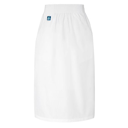 Adar Universal Knee-Length A-Line Side Pocket Skirt - 704 - White - 2X