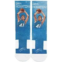 Dirk Nowitzki Dallas Mavericks Strideline Galaxy Socks