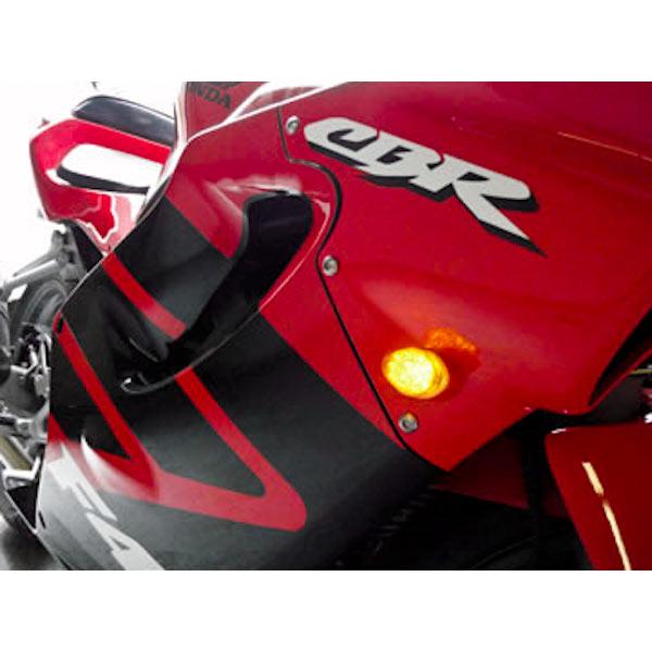 Flush Mount LED Turn Signals Indicators Clear Lens For 2002-2003 Kawasaki ZX9R - image 6 de 8