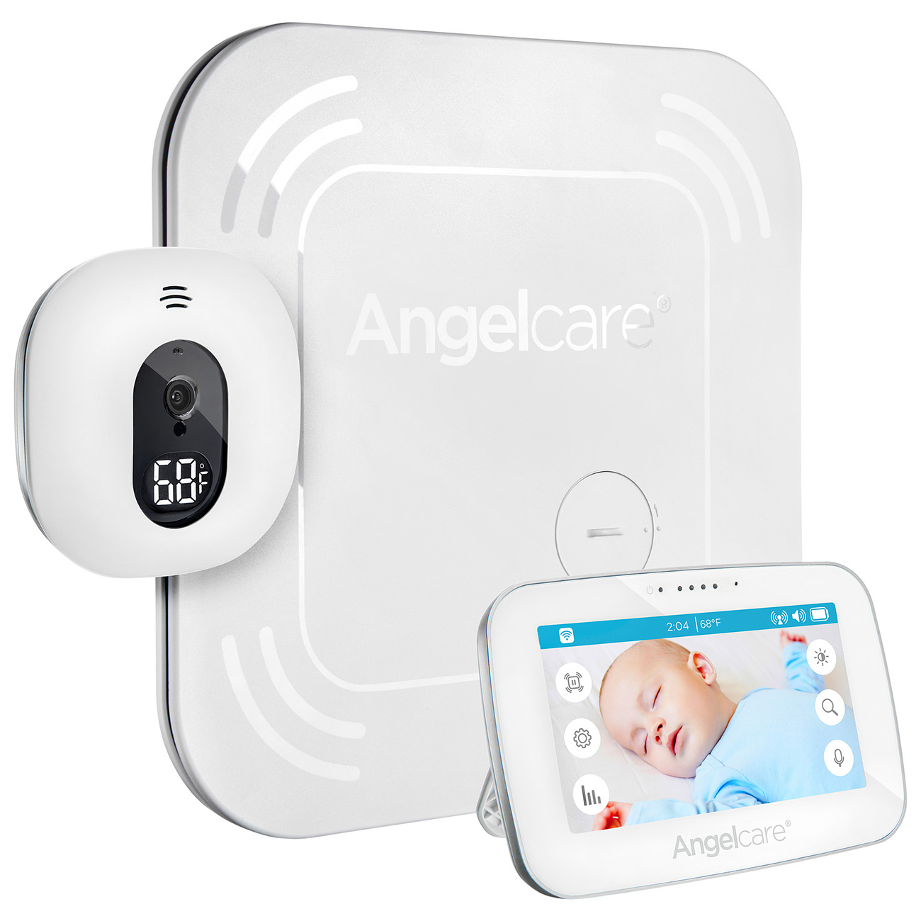 Angelcare AC417, Video & Movement Baby Monitor, Wireless Sensor Pad