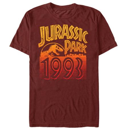 Jurassic Park Men's Retro 1993 T-Shirt 1977 Mens Retro T-shirt