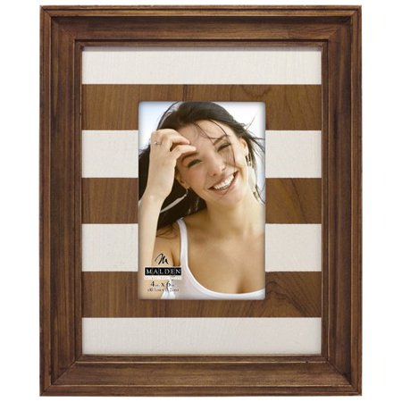 Malden Brown Stripe Mat Picture Frame