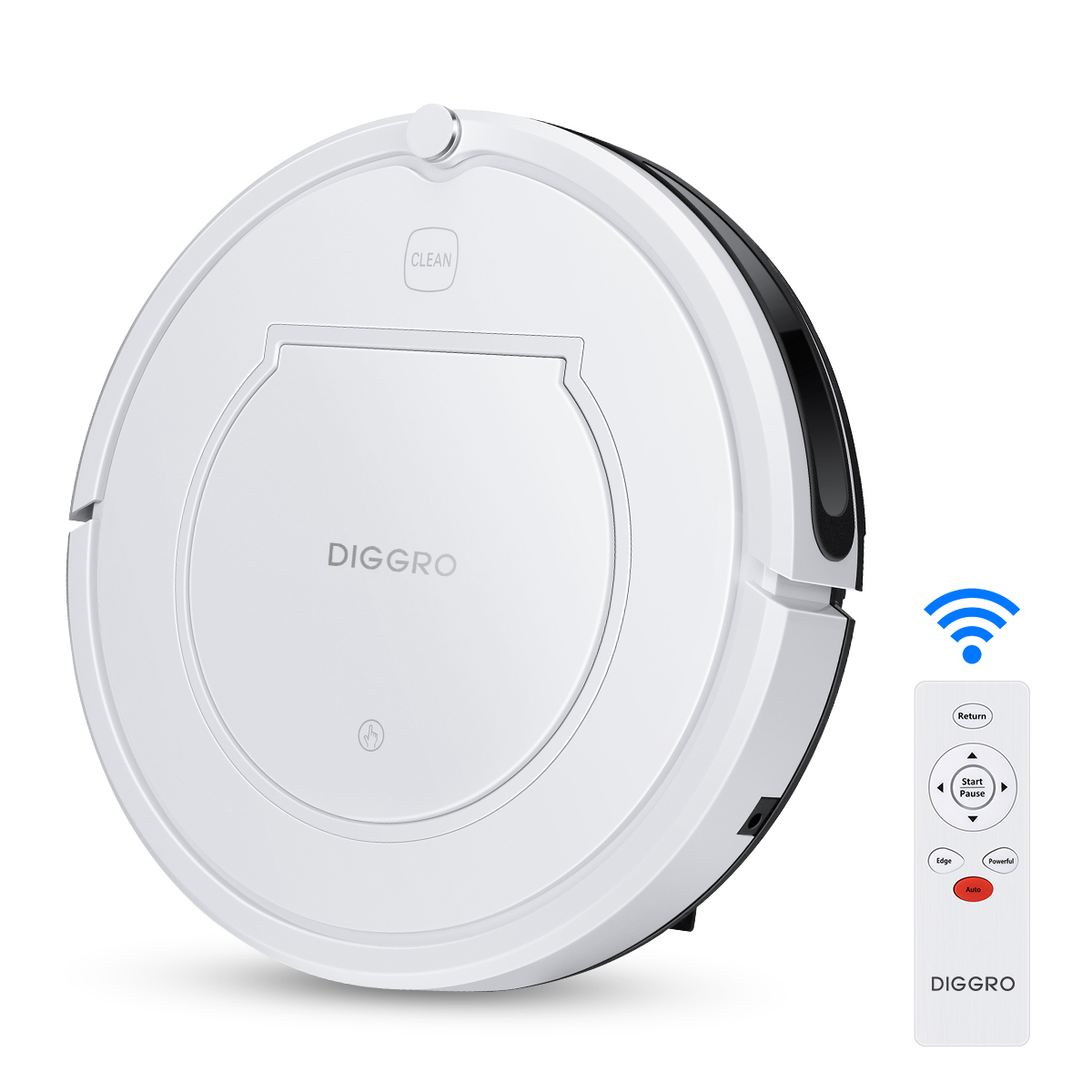 Diggro Robot Vacuum Cleaner, KK320 Robotic Vacuum with One-Key Planning Tech, Powerful Clean for Pets, Suitable for Low-Pile Carpets and Hard Floors