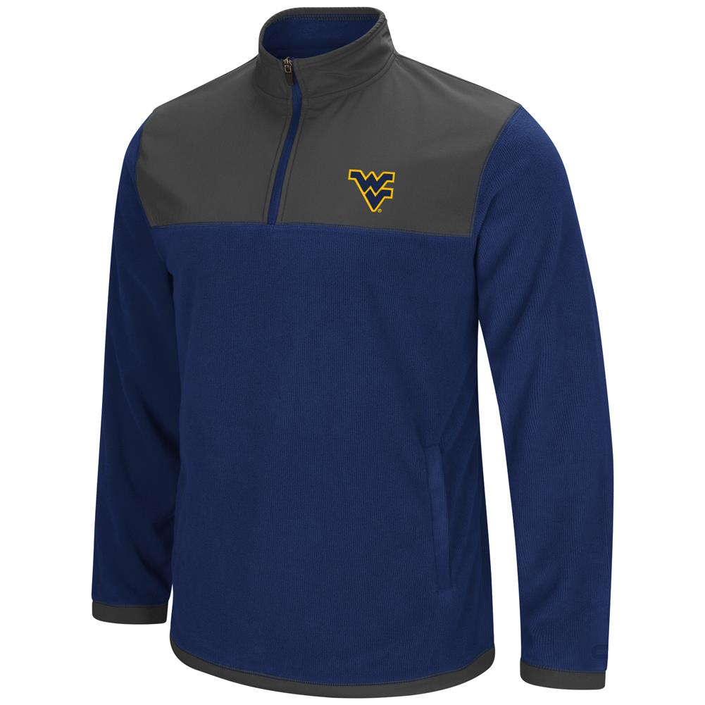 West Virginia Mountaineers Men's Full Zip Fleece Jacket by Colosseum
