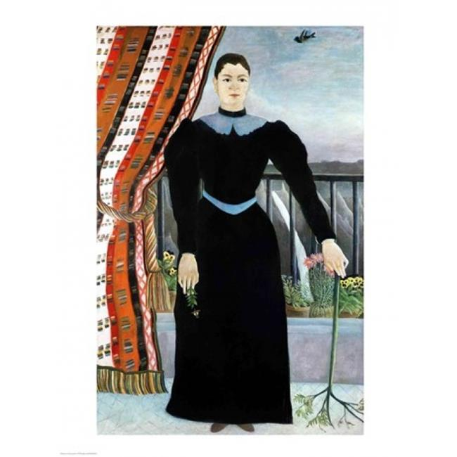 Portrait of A Woman 1895 Poster Print by Henri Rousseau - 24 x 36 in. - Large - image 1 of 1